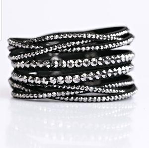 All Huste and hairspray black urban bracelet